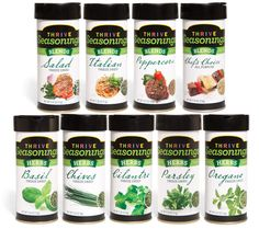 Thrive Seasonings. These are freeze-dried...not dehydrated like most herbs you buy at the grocery store. And they're on sale this month!