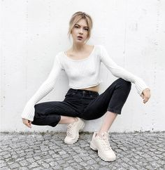 Get this look: http://lb.nu/look/8704721  More looks by Ebba Zingmark: http://lb.nu/ebbaz  Items in this look:  Monki Top, Monki Pants, Fila Sneakers, Ebba Zingmark Blog   #casual #sporty #street