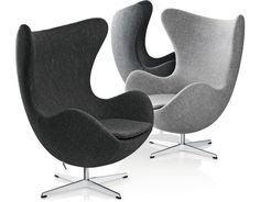The Egg Chair by Arne Jacobsen for Fritz Hansen.  Okay, so these are $7k new. But two of these - they swivel. :)