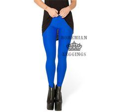Matte Blue Leggings