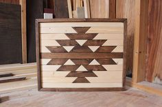 Modern Wood ArtWood Wall ArtGeometric Wood ArtReclaimed