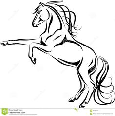 Mustang Running Horse Colouring Pages
