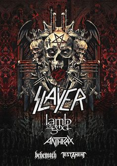$4.5 AUD - Slayer Final World Tour 2018, Testament, Lamb Of God, Anthrax Sticker Or Magnet #ebay #Collectibles