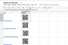 Astuce : générer une liste de QRcode avec Google Docs