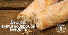 Simple Sourdough Baguette