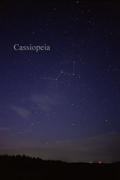 For much of the Northern Hemisphere, Cassiopeia is out all night long every day of the year. At present, Cassiopeia appears in the northwest...