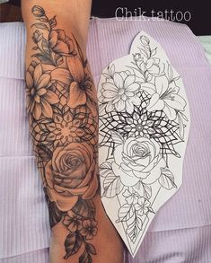 Do you also want a flower tattoo to show yourself? Check out the most beautiful flower tattoo we have prepared for you! We hope to give you the greatest inspiration. beautiful tattoos The Most Beautiful Flower Tattoo Designs Tattoo Designs Foot, Tattoo Sleeve Designs, Flower Tattoo Designs, Tattoo Designs For Women, Unique Tattoo Designs, Unique Tattoos, Beautiful Flower Tattoos, Small Flower Tattoos, Pretty Tattoos