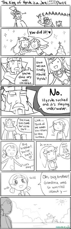 The King of Hyrule is a Jerk! Part 4, and sadly Link is also.