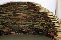 book arch art installation sculpture igloo