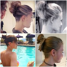 #undercut #bun #hairbun #messybun #hairup #shornnape #shavednape #shavedundercut #undershave #updo #napecut