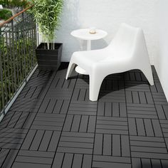 Shop decking and outdoor flooring at IKEA. Find deck tiles, patio tiles and outdoor flooring solutions in numerous styles at affordable prices. Outdoor Spaces, Outdoor Living, Outdoor Decor, Outdoor Kitchens, Ikea Exterior, Laying Decking, Outdoor Decking, Outdoor Tiles, Ikea Outdoor Flooring