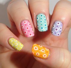1 like = love summer colors!  (via Dipped in Lacquer)