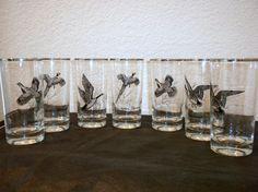 Vintage Federal Glass Tumblers Sportsman Pattern 8 by oldandnew8, $28.00