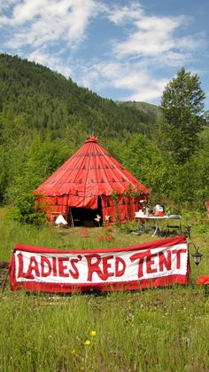 ladies red tent