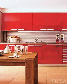 Perfect Red Kitchen, the Color of ♥ ℒℴvℯ, for the ♥ ℒℴvℯ of Food -=- Warm, Bright & Cheery !!
