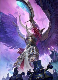 Месть краснокожих Warhammer Magnus The Red, Thousand Sons, Screamer Warhammer Fantasy, Warhammer 40k Art, Magnus The Red, Angel Demon, Chaos Legion, Chaos Daemons, Thousand Sons, Red Art, Space Marine