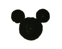 Free crochet pattern for Mickey Mouse ears coaster.  Simple crochet pattern perfect for beginners and those who love Disney.
