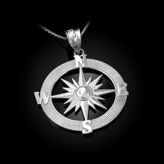 Matte Finish 10k White Gold Worlds Best Dad Badge Pendant Necklace