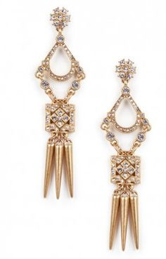 Crystal Dagger Earrings