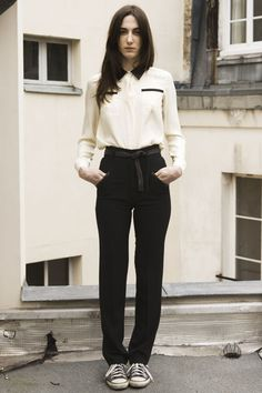 #pants  Love the pants and blouse combo.