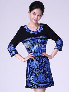 Classic Black Embroidery Cotton Blend Womans Party Dress. Classic Black Embroidery Cotton Blend Womans Party Dress. See More Shift Dresses at http://www.ourgreatshop.com/Shift-Dresses-C816.aspx