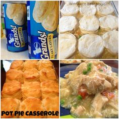 Tasty chicken pot pie casserole. #PillsburyBiscuits #sponsored