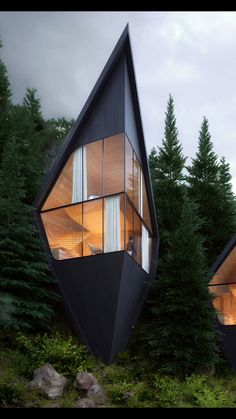 Read the full story here at Wondrwood. 🌲 Designed by Peter Pichler Studios, these modern geometric treehouse-style hotels are proposed for the Dolomite mountains in Italy. See the full gallery and read more about them right here. Sustainable Architecture, Amazing Architecture, Interior Architecture, Interior Modern, Natural Architecture, Luxury Tree Houses, Treehouse Hotel, Tiny House Cabin, Farm House