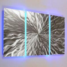 """Cosmic Energy, LED"" 3 panel Color Changing LED Modern Ab... http://www.amazon.com/dp/B00G0A43A2/ref=cm_sw_r_pi_dp_sLKrxb09R580X"