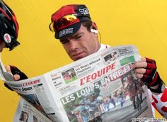 Chillin' out... Cadel Evans will bid to win a second Tour de France in 2012!!