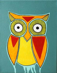 'Red Triangle Owl' by Carissa Weber