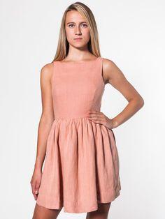 Linen Sun Dress | Shop American Apparel