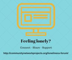 The Loneliness Forum - offering free, safe peer support for people feeling lonely.