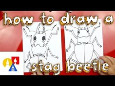 Learn how to draw a wickedly cool stag beetle! Fun drawing activity for kids!