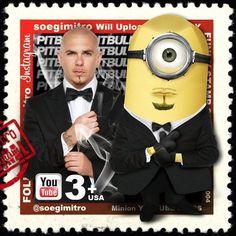 Pitbull Minion Stamp.