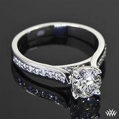 Cathedral Pave Diamond Engagement Ring | 36601