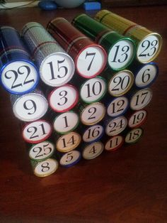 Beer advent calendar i made for my husband drink and be merry dollar store tubes for beer andor wine advent calendar solutioingenieria Gallery