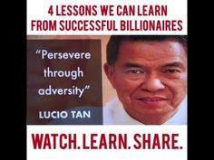 NEGOSYO TIPS: 4 LESSONS WE CAN LEARN FROM SUCCESSFUL BILLIONAIRES Pinoy, Billionaire, Ph, Success, Canning, Business, Store, Home Canning