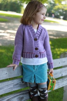 Girls First Day Cardigan, free