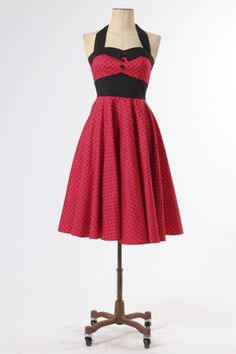 The Red Ashley Dress by Hell Bunny