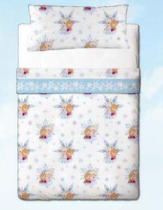 Juego sábana cama 90 modelo Frozen friends by Gamanatura