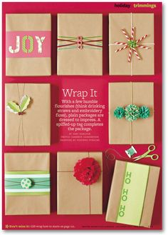 Christmas giftwrap packaging ideas