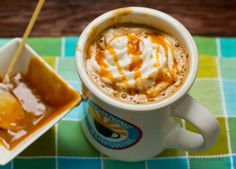 Peanut Butter Cup Caramel Latte is PERF this season!  Substitute 'organic sugar' with Coconut Sugar or Stevia and if you have a nut allergen just like little ol' me, substitute with sunflower seed butter - a great sub! Enjoy :)