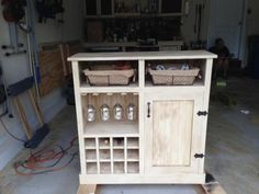 DIY Furniture : DIY Shanty Console turns Wine Cabinet @Jen McLeod Savvy SEO Agency www.sociallysavvyseo.com