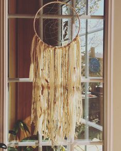 Cream Dreamcatcher Boho Wall Decor Handmade Wall Hanging