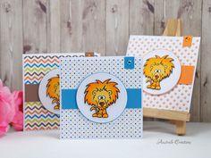 Big Cat Birthday Invites Gerda Steiner Designs Card by Celine at Australe Creations