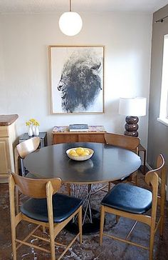 round dining room table Andrea & Chad's Venice Abode — House Tour