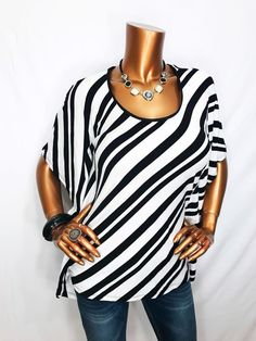 White House Black Market S Top NWT Striped Stretch Blouse Shirt Short Sleeve  | eBay