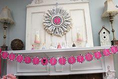 Barbie Birthday-Fireplace Mantel Decor