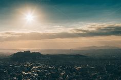 Sunset over the Athens #2 by Walking Blonde on Creative Market