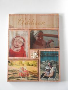 Photo gift mom photo on wood wooden photo keepsake by HearttoCraft